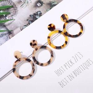 Jewelry - 2 pr/$20 Acrylic Circle Drop Earrings, Boho Style